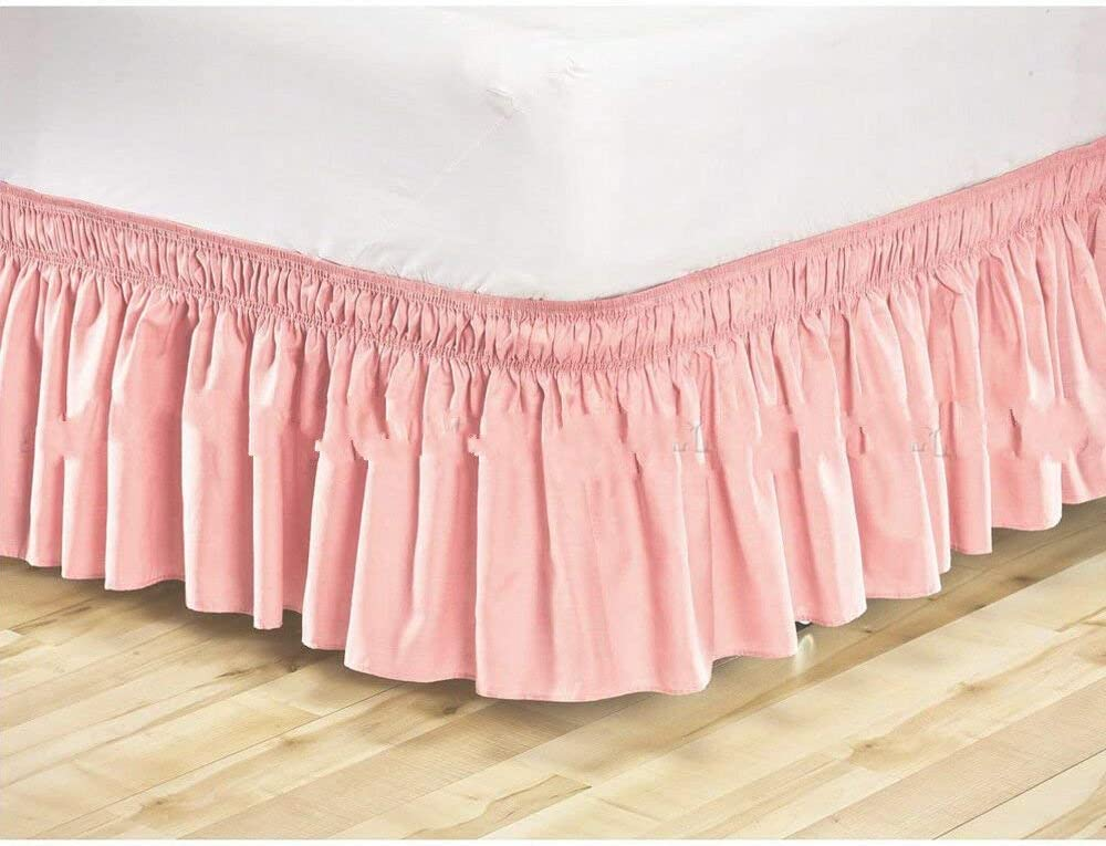 New Elastic Bed Skirt Dust Ruffle Easy Fit Wrap Around Twin Full Queen King Size