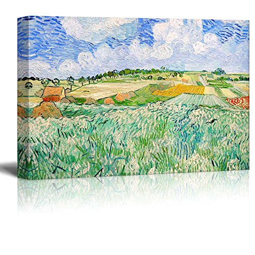 wall26 Plain near Auvers by Vincent Van Gogh - Oil Painting Reproduction on Canvas Prints Wall Art, Ready to Hang - 24