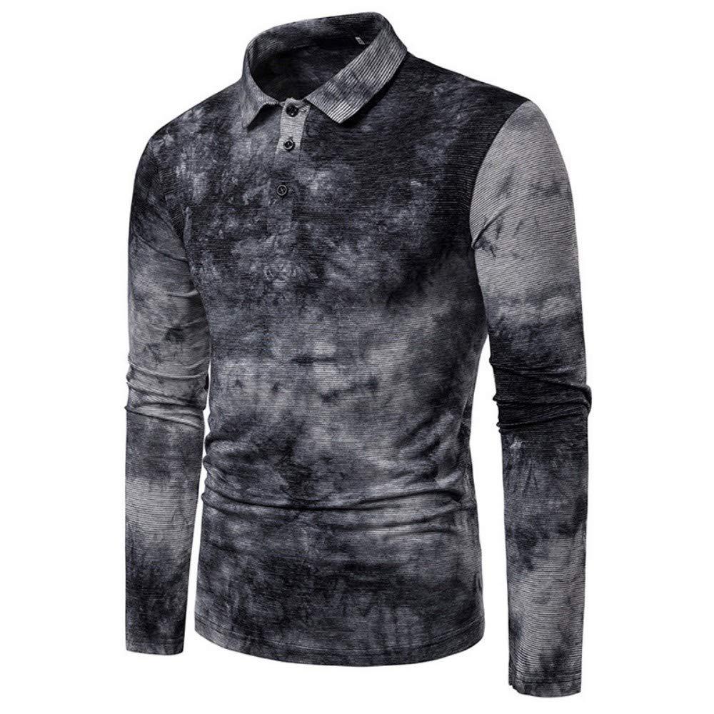 NISHIPANGZI Corbata Rayas seco Imprimir Polo Shirt Hombres Hit de ...