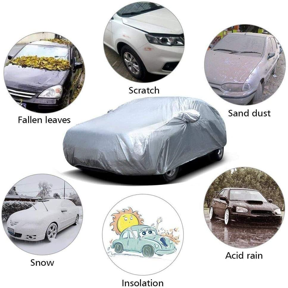 Poussi/ère Neige Imperm/éable B/âche Voiture Housse de Protection UV Couverture Etanche B/âche Anti Frost