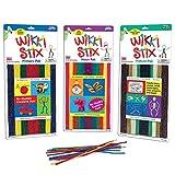 WikkiStix Primary, Neon & Nature Colors, Triple Play Pak of Molding & Sculpting Sticks