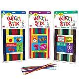 WikkiStix Primary, Neon & Nature Colors, Triple Play Pak of Molding & Sculpting Sticks