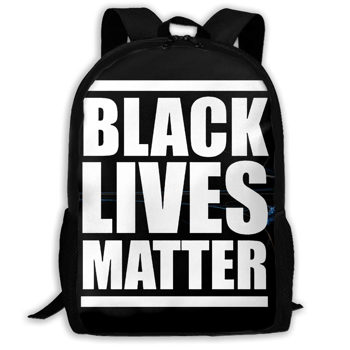 Vogue schwarz Lives Matter Matter Matter Printed Backpack Waterproof Easy to Carry Canvas Outdoor Bags for Men and damen B07QJ4WC3F Daypacks Verkauf Online-Shop 4eb949