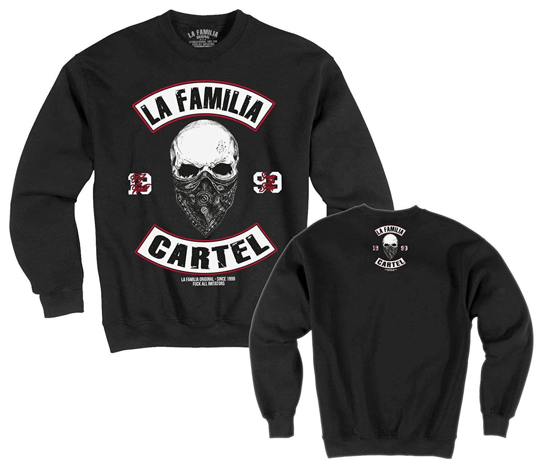 "LA Familia ORIGINAL. ""Skull MC  Cartel Herren, Jungs Sweat-Shirt,La vida loca"