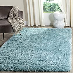 Safavieh Polar Shag Collection PSG800T Light Turquoise Area Rug, 3' x 5'