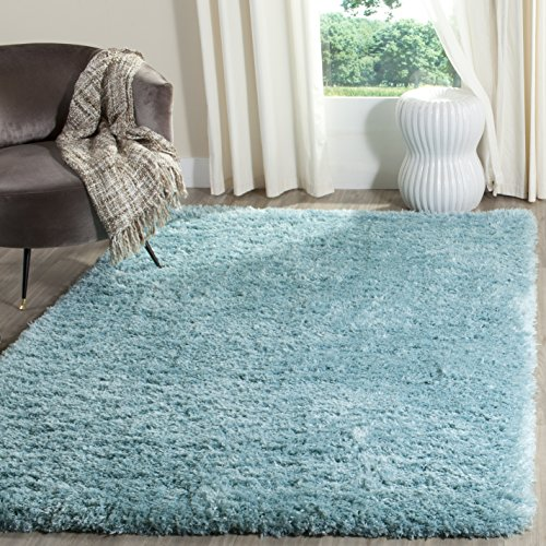 Safavieh Polar Shag Collection PSG800T Light Turquoise Square Area Rug, 6'7 Square