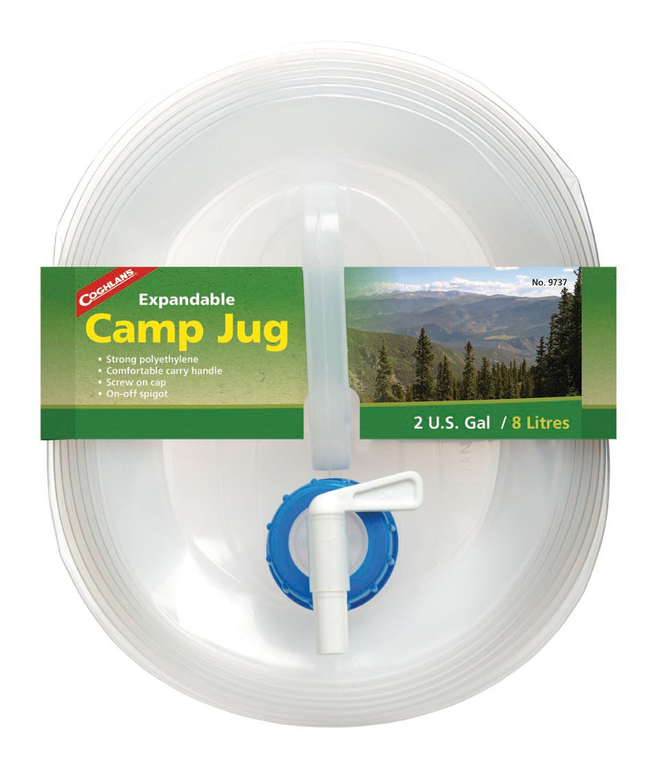 2-Gallon Coghlans 9737 Coghlans Expandable Camp Water Jug