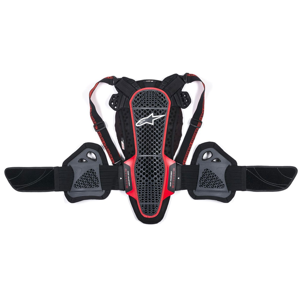 Alpinestars Nucleon KR-3 Back Protector Off-road Body Armor - Black/Red / X-Small