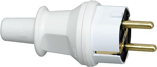 Schutzkontakt-Stecker Knickschutz weiß