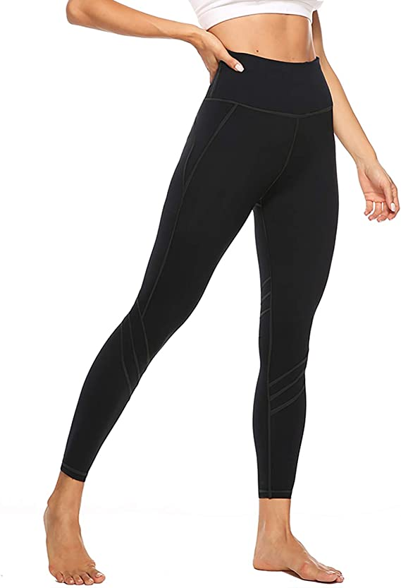 JOYSPELS Womens Yoga Pants High Waist Tummy Control Workout Leggings with 2 Pockets, Non See-Through / 4 Way Stretch Fabric