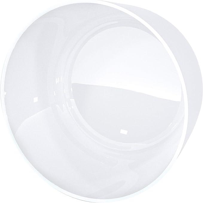 Juego de cuenco de cristal de cuarzo esmerilado con mazo y junta tórica incluidos, 20 cm, color blanco, para cantar, meditación, relajación: Amazon.es: Instrumentos musicales