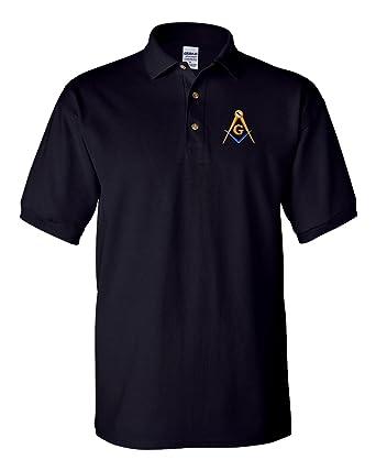 3e1ba1c17 Mason Blue Lodge Polo Golf Shirt at Amazon Men's Clothing store: