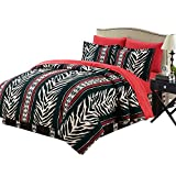 HollyHOME Zebra Pattern 6-Piece Bed in Bag Comforter Set, Twin