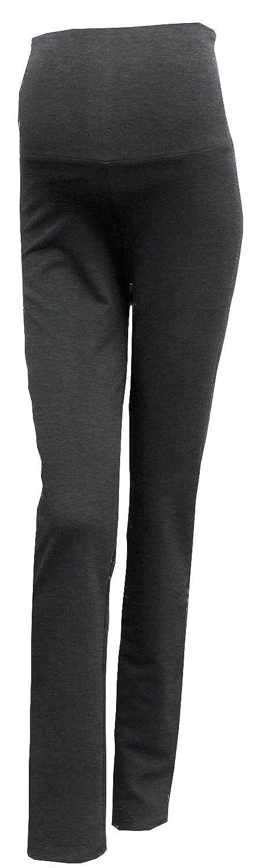 Mimosa Grossesse Femmes Pantalon de Maternité Yoga Riche en Coton Doux et Léger (Medium, Charbon)