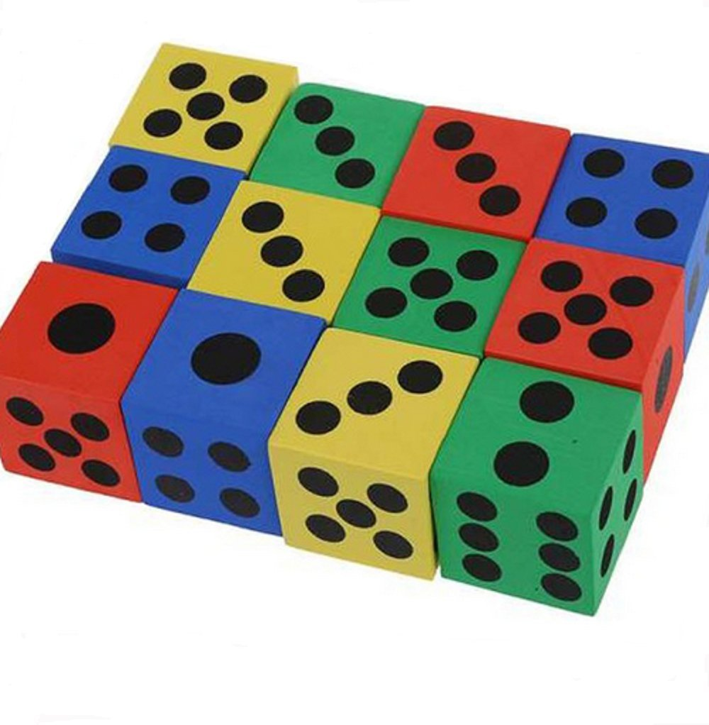 Panlom/® Foam Playing Dice Soften Coloured 6 Sided Block Party Loot Toy for Children Small