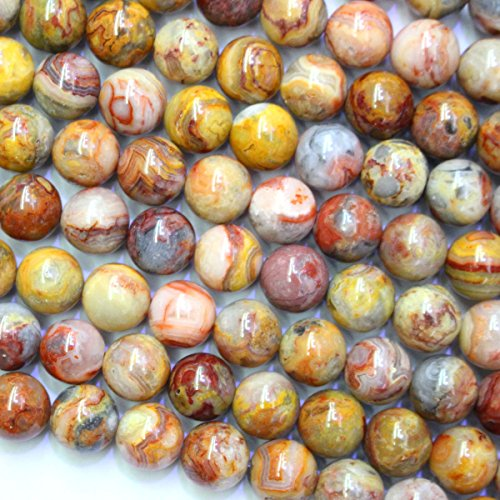 Crazy Lace Agate Round Beads - 2
