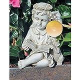 Girl Angel Polyresin/Fiberglass Solar Led Ball