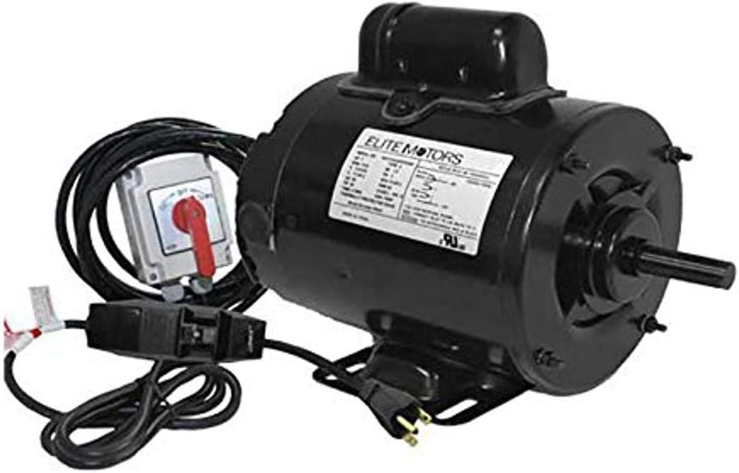 Elite 1 1/2 HP Painted 56 Frame Boat Lift Motor - Momentary Switch / 220v / Single Pulley / 16 ft. Control Cable