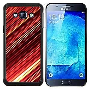 TECHCASE---Cubierta de la caja de protección para la piel dura ** Samsung Galaxy A8 ( A8000 ) ** --Red Abstract Stripes