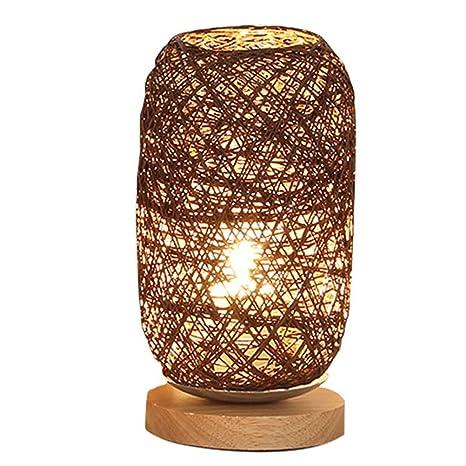 DESHOME Lámpara de Mesa de mesilla de Noche Moderna, lámpara ...