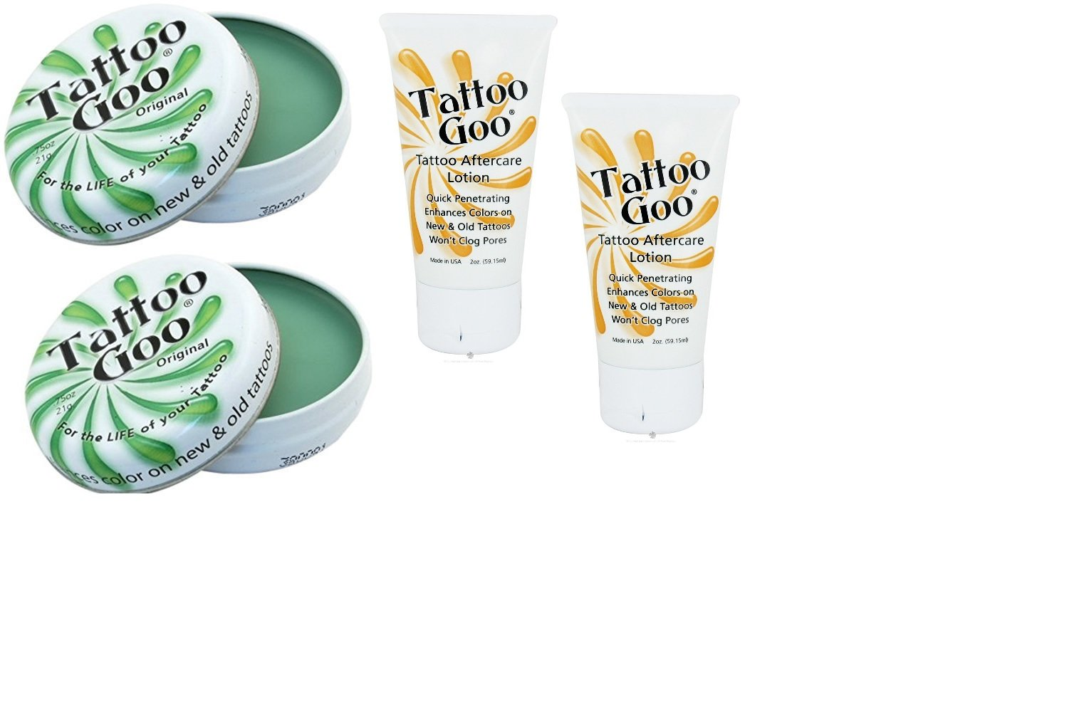 Tattoo Goo Salve & Lotion Combo Kit (Pack of 2)