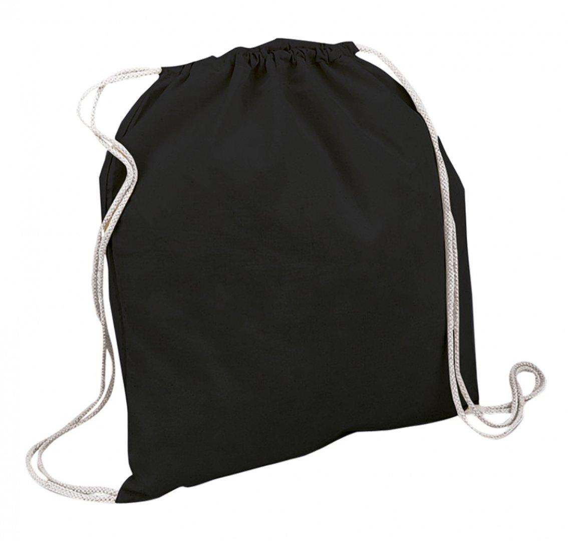 10 x uego de 10 algodón bolsa de deporte bolsa algodón Mochila Bolsa de deporte, negro