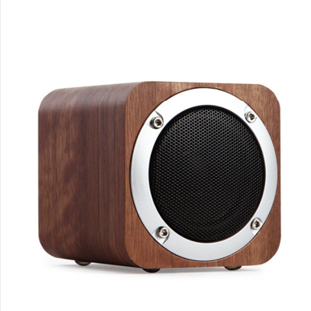 LANSIN New Creative (Walnut) JH08 Wood Wireless Bluetooth speakers Subwoofer, TF Cards, AUX, 1800mAh, FM Radio by LANSIN
