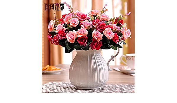 Xin Pang Emulación Continental Flor Rosas Salón Decoracion Y Adornos ...