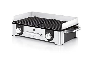 Wmf Lono Elektrogrill Für Drinnen Und Draußen : Amazon wmf lono family grill w getrennt regulierbare