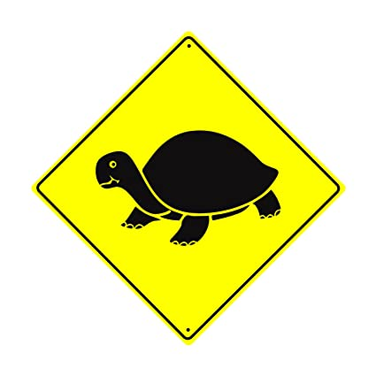 Amazon.com: Turtle with Graphic Crossing Caution Xing Slow Animal ...