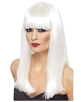 Horror-Shop Glamourama peluca blanca de plata