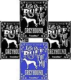 4 Pack Top Greyhound Dog Lover Gift Set Magnet Sticker Easter Basket Filler Idea