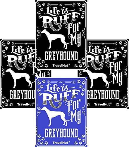 4 Pack Top Greyhound Dog Lover Gift Set Magnet Sticker Easter Basket Filler Idea (Magnet Greyhound Dog)