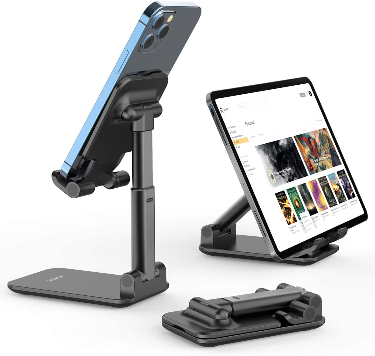 Foldable Portable Desktop Stand Adjustable Height and Angle Phone ...