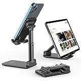 Suporte de celular ajustável, suporte de telefone celular dobrável para mesa, suporte de telefone portátil, compatível com iP