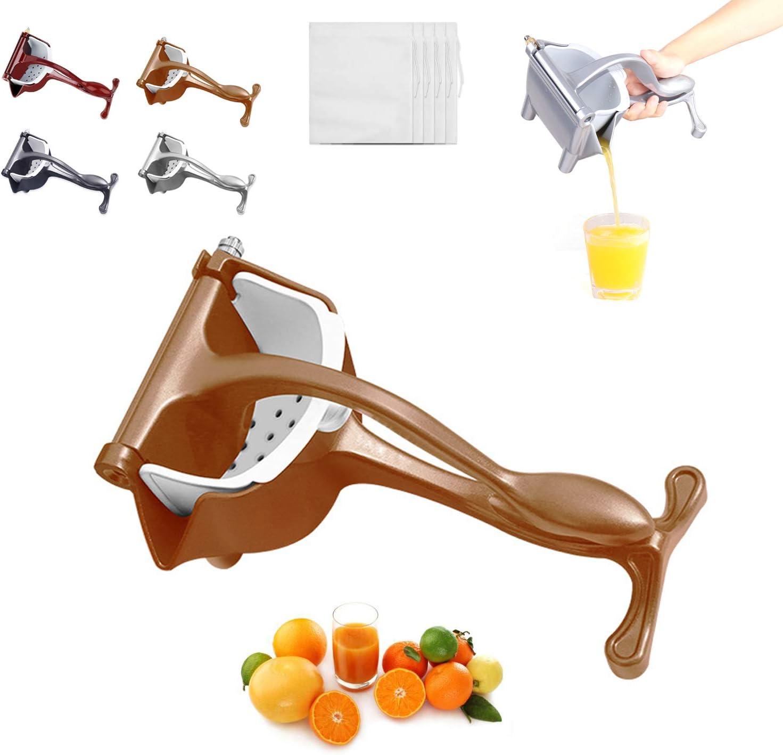 Lemon Squeezer Juice Squeezer Juicer Hand Press - Stainless Steel Hand Juicer Citrus Lime Squeezer Manual Juicer (Golden)