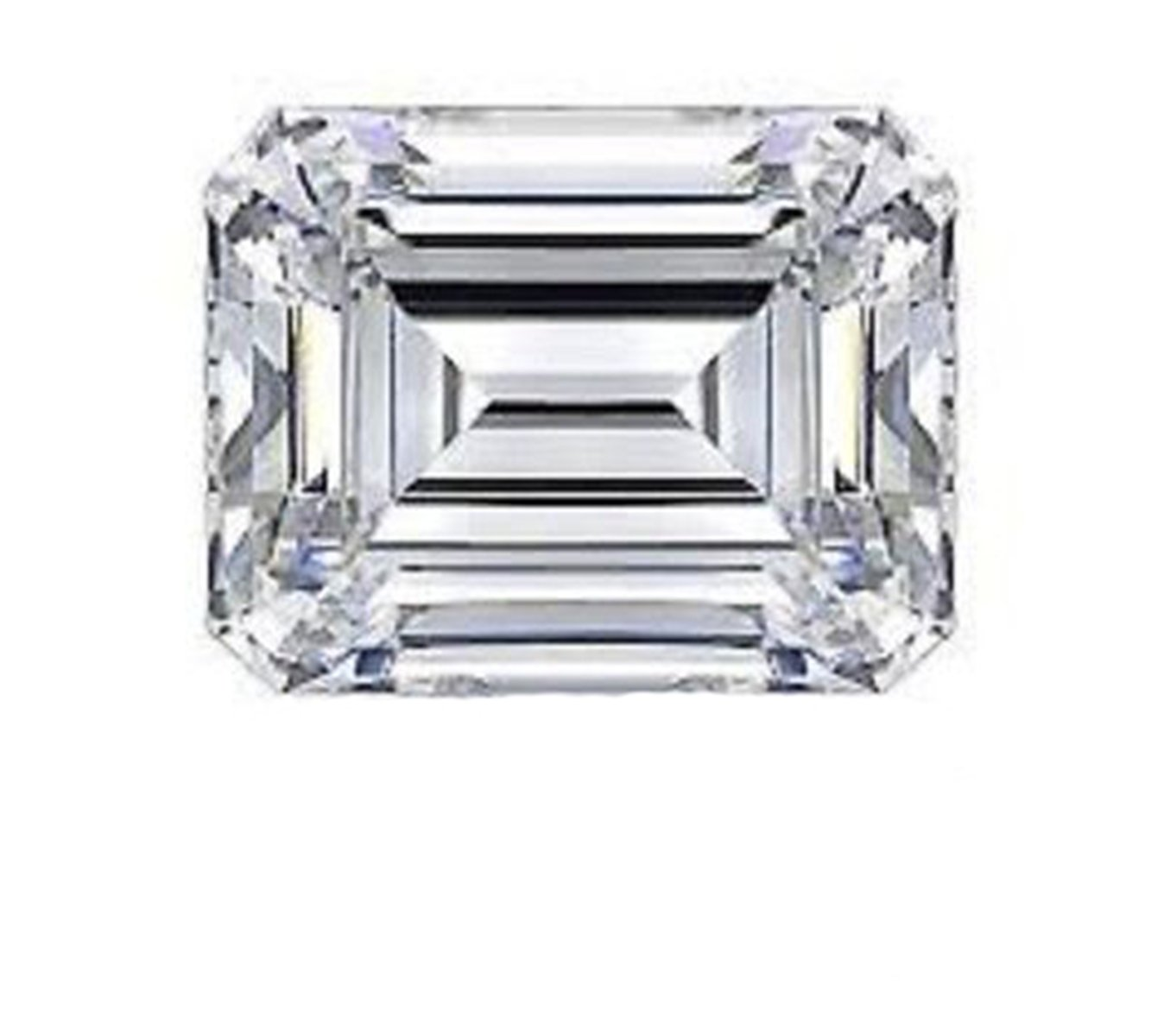 RINGJEWEL 2.32 ct VVS1 Emerald Cut Real Loose Moissanite Use 4 Pendant/Ring Genuine White H-I Color