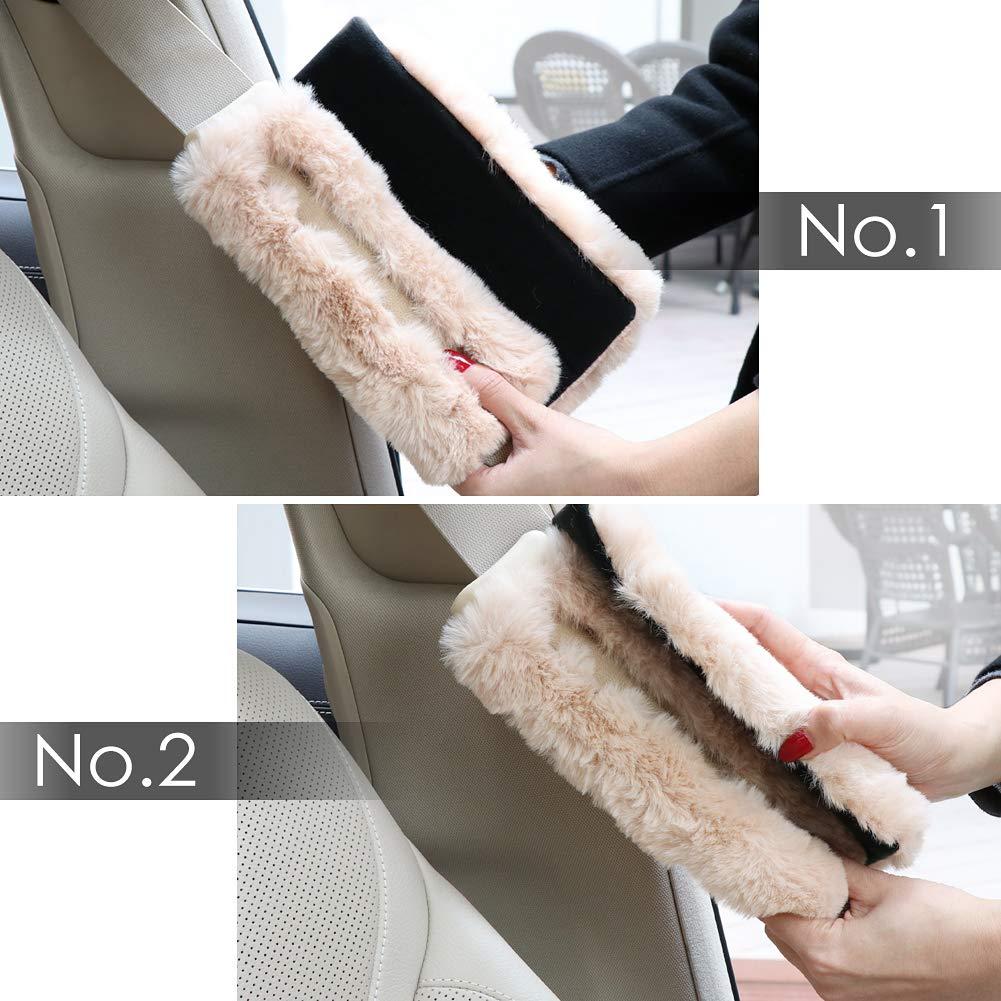 SEG Direct/Almohadillas de Cintur/ón de Seguridad de Lana de Imitaci/ón Almohadillas de Mochila Almohadillas de Bolsa de Hombro para Adultos y Ni/ños Paquete de 2 Begie