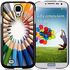 NEW DIY Unique Designed Samsung Galaxy S4 I9500 Phone Case For Circle Of Colored Pencils Phone Case Cover