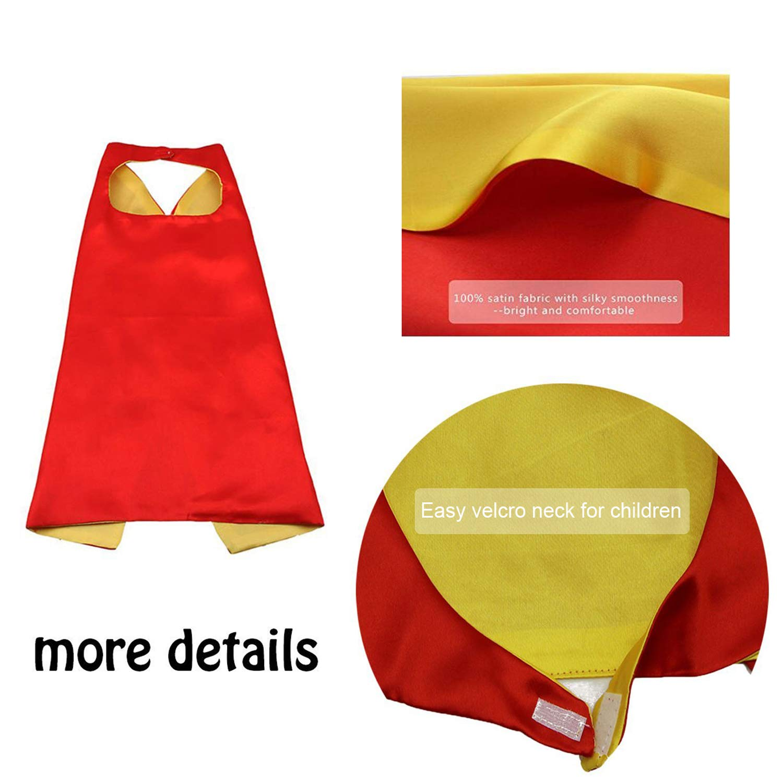 Kids Costumes 8PCS Superhero Capes with Masks and Slap Bracelets Original Logo for Boys Dress Up Party Favors