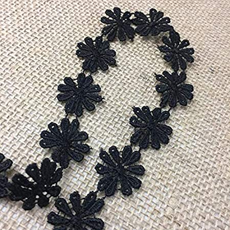 442be6cea8a137 Black 1 Wide Amore Lace and Fabrics A1404 3 Yards Choose Color 1 Wide Lace  Trim ...