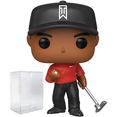 Funko Pop Sports: Golf - Tiger Woods (Red Shirt) Vinyl Figure (Includes Compatible Pop Box Protector Case): Toys & Games
