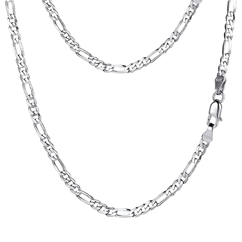 PROSTEEL Stainless Steel/925 Sterling Silver Figaro Chain Necklace,  Men/Women Jewelry, 2 9mm-13mm, 18''-30''