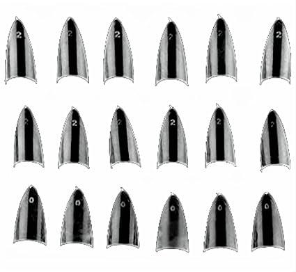 Hilai - 500 puntas de uñas postizas de acrílico con purpurina de color transparente