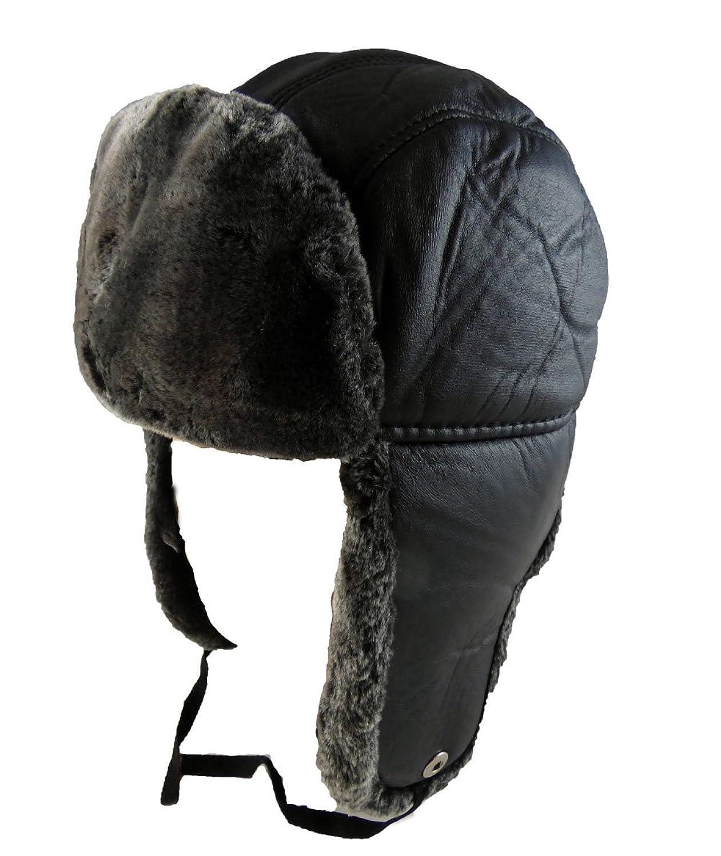 Russische Wintermütze Schwarz