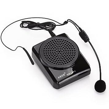 Amplificador portátil Aker MR1505, 12 W para profesores, entrenadores, negro