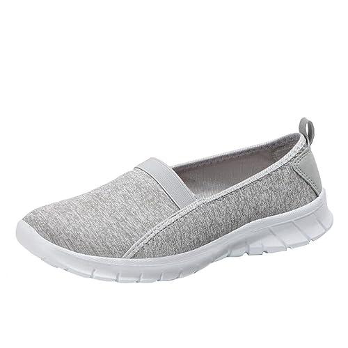 Sannysis Moda Mujer Suave Zapatillas Deportivas Ocasionales Transpirables sin Cordones Zapatos Perezosos Zapatos Fitness Planos Mocasines