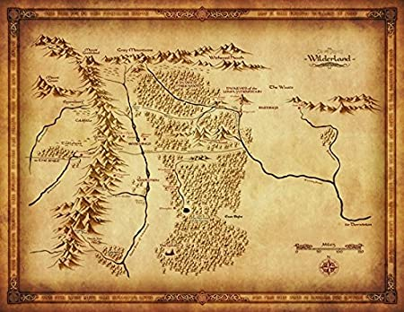 the lord of the rings the hobbit map of middle earth wilderland large