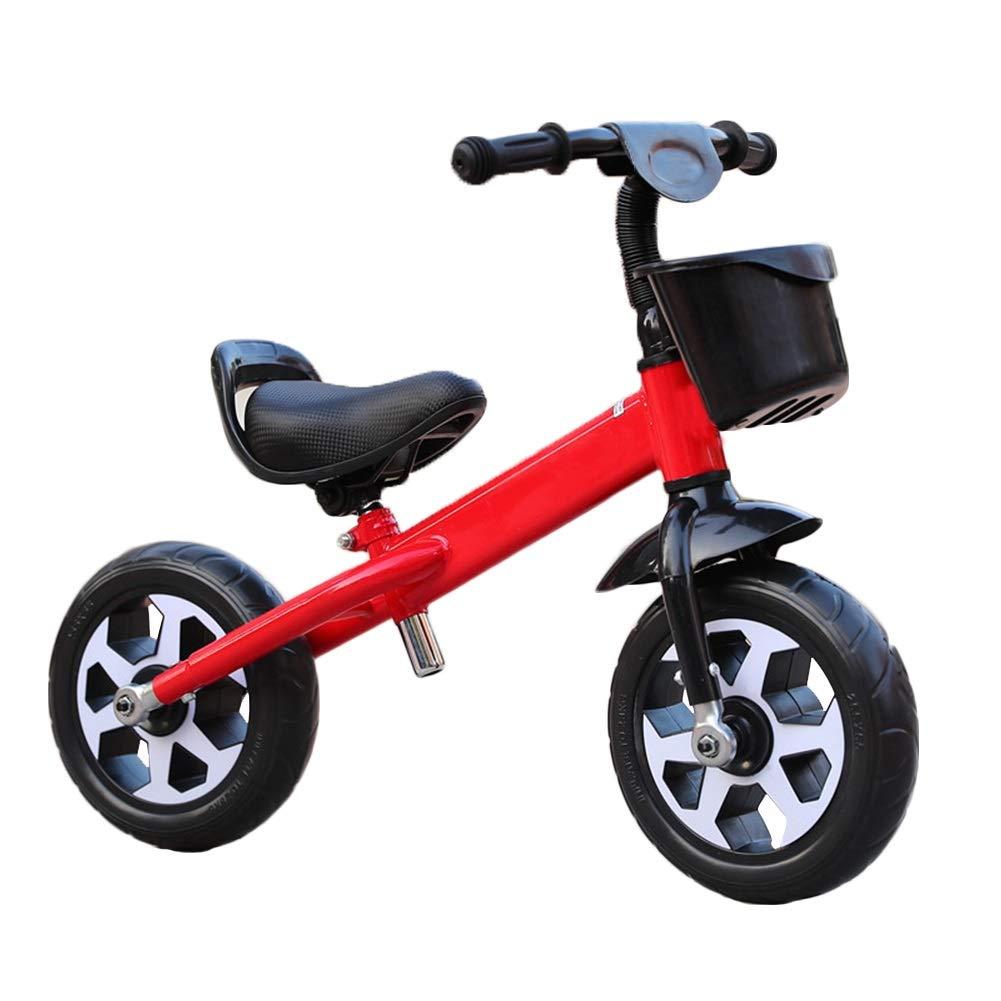 rot 80x58cm YJFENG Kinder Laufrad Balance-Bikes Draisiennes Höhenverstellbar Aufbewahrungskiste Tragbar Airless-Schaumreifen,5 Farben (Farbe   rot, Größe   80x58cm)