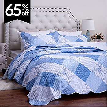 Amazon.com: English Roses Quilt set, Cotton rich,prewashed ... : thin quilted bedspreads - Adamdwight.com